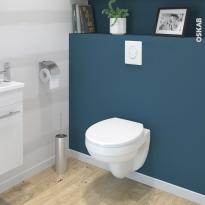 Pack WC suspendu - Bâti universel GROHE - Cuvette SCALA - Sans bride - Plaque blanche