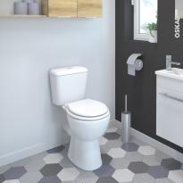 Pack WC à poser - sortie horizontale - SINA - Surélevé