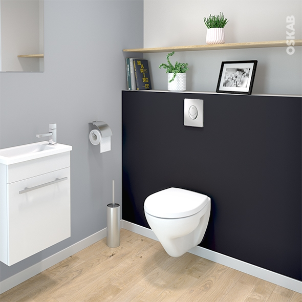 pack wc suspendu b ti mural grohe cuvette zapa plaque chrom e oskab. Black Bedroom Furniture Sets. Home Design Ideas