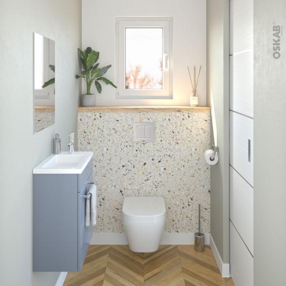 Pack WC suspendu - Bâti universel compact plus WIRQUIN - Cuvette IVELA - Sans bride - Plaque blanche