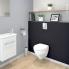 #Meuble lave-mains - FUJI Blanc - Avec miroir - L44 x P26 x H55,4 cm