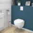 #Pack WC suspendu - Bâti universel Rapid SL GROHE - Cuvette SCALA - Sans bride - Plaque blanche