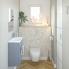 #Pack WC suspendu - Bâti universel compact plus WIRQUIN - Cuvette IVELA - Sans bride - Plaque blanche