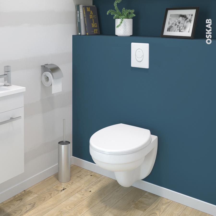 pack wc suspendu b ti universel grohe cuvette scala sans bride plaque blanche oskab. Black Bedroom Furniture Sets. Home Design Ideas