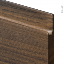 Meuble de cuisine - Sous évier - IPOMA Noyer - 1 porte - L30 x H70 x P58 cm